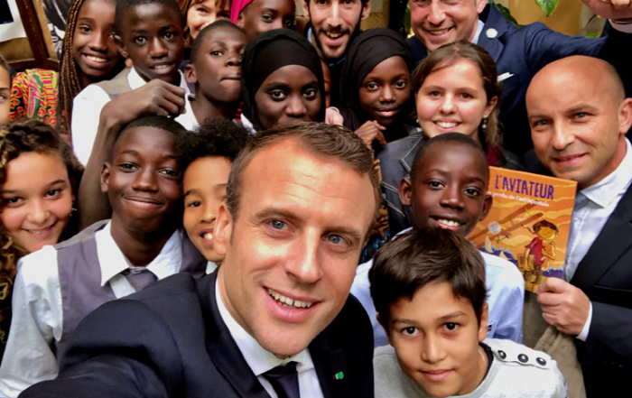 Presidential meeting with the schoolchildren of Saint-Louis in Senegal