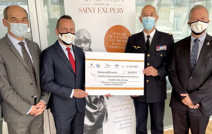 La Fondation Antoine de Saint Exupéry pour la Jeunesse soutient la Fondation Ailes de France